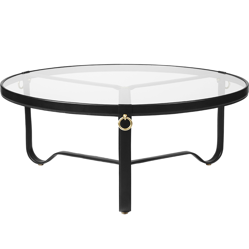 adnet coffee table gubi modern designer contemporary glass tabletop leather coffee table