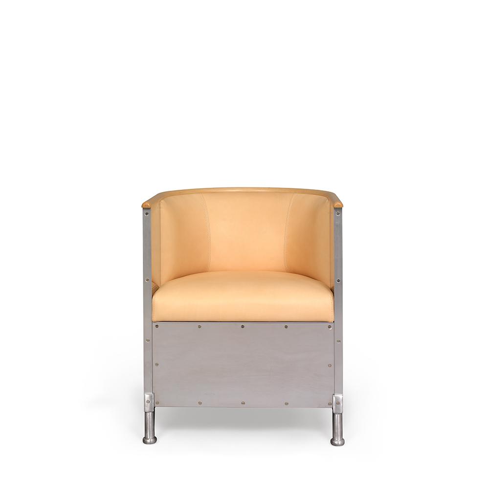 aluminium mats theselius kallemo modern designer contemporary metal armchair lounge chair