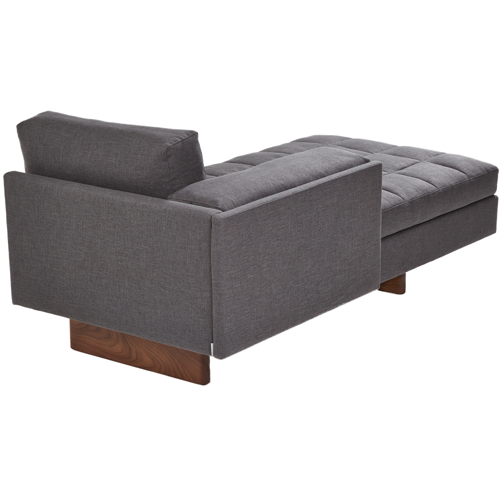 asymmetric sofa bassamfellows gray sectional craig scott modern chaise lounge handcrafted american made designer furniture walnut steve wolenski front shop suite ny