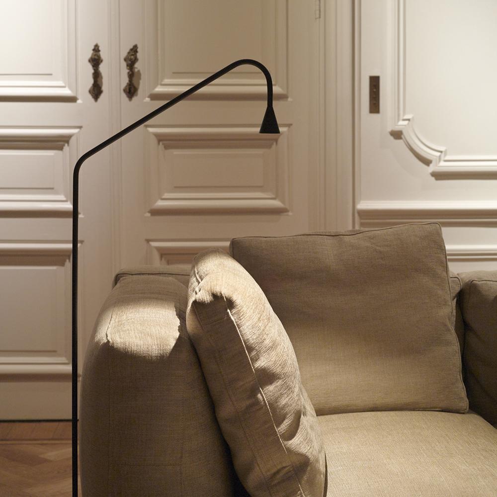 Austere Floor Lamp Hans Verstuyft Trizo21 black belgian designer lighting