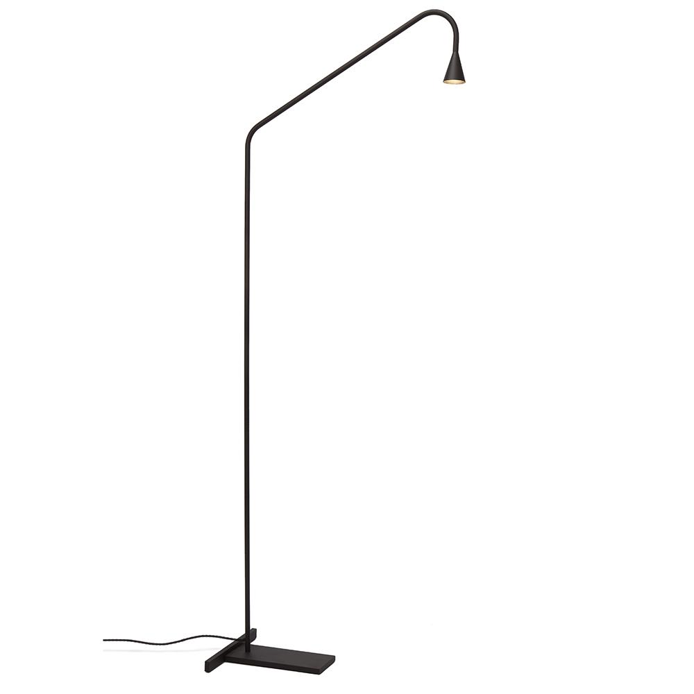 Austere Floor Lamp Hans Verstuyft Trizo21 minimalist designer black floor lamp