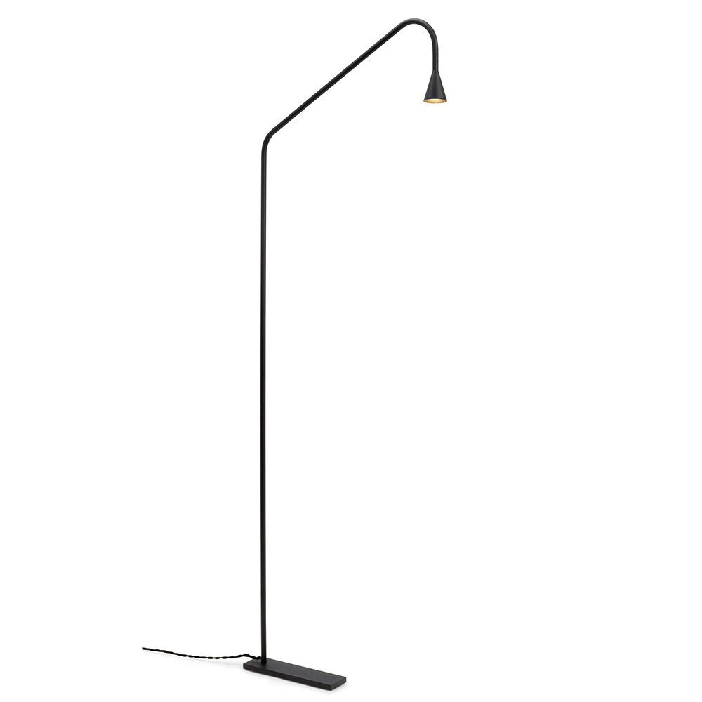 Austere Floor Lamp Hans Verstuyft Trizo21 modern black brass Belgian floor lamp
