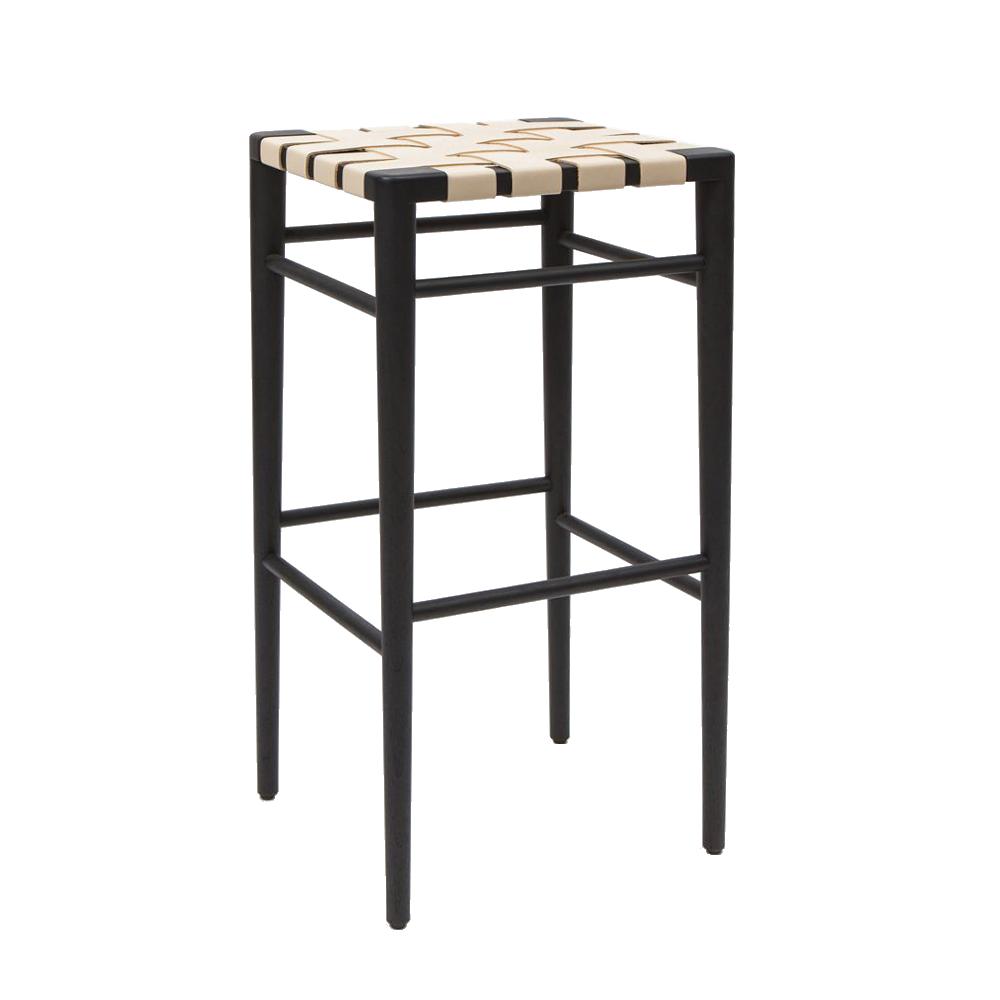 Smilow Furniture woven leather dining stool mel smilow walnut counter stool black white barstool