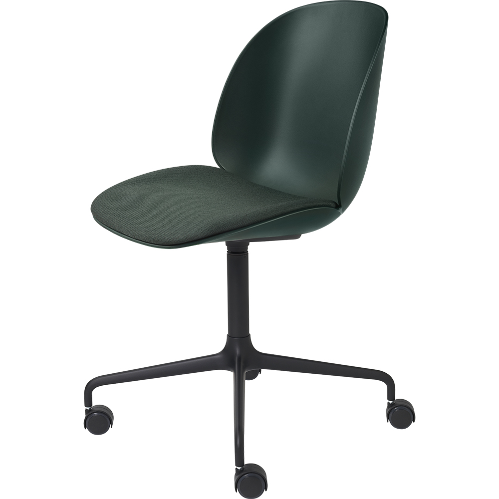 beetle meeting chair designer danish contemporary modern upholstered swivel casters wheels office chair office seating conference chair