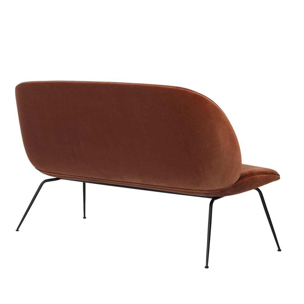 beetle sofa loveseat rust velvet gamfratesi suite ny