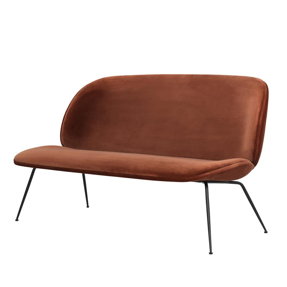 beetle sofa loveseat rust velvet gamfratesi suite ny side