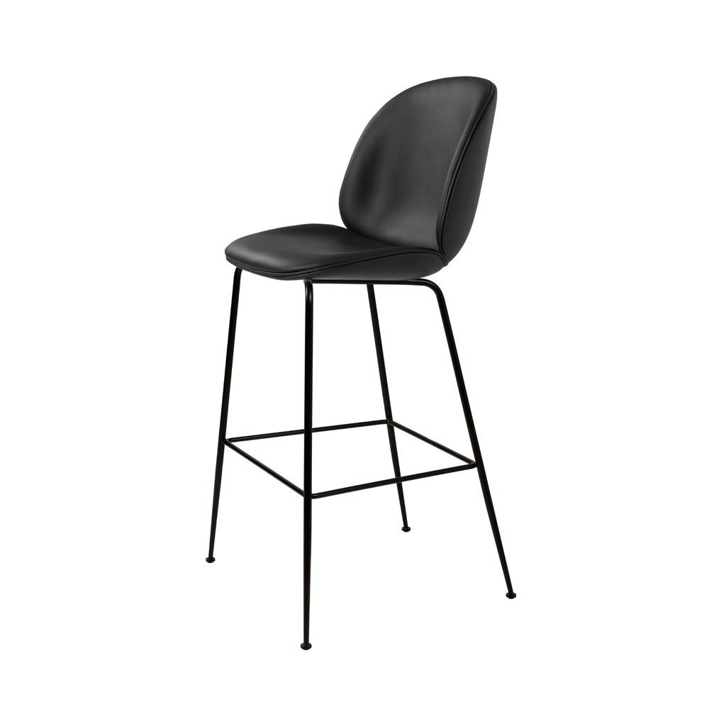 Beetle stool Gamfratesi gubi modern barstool dining black leather