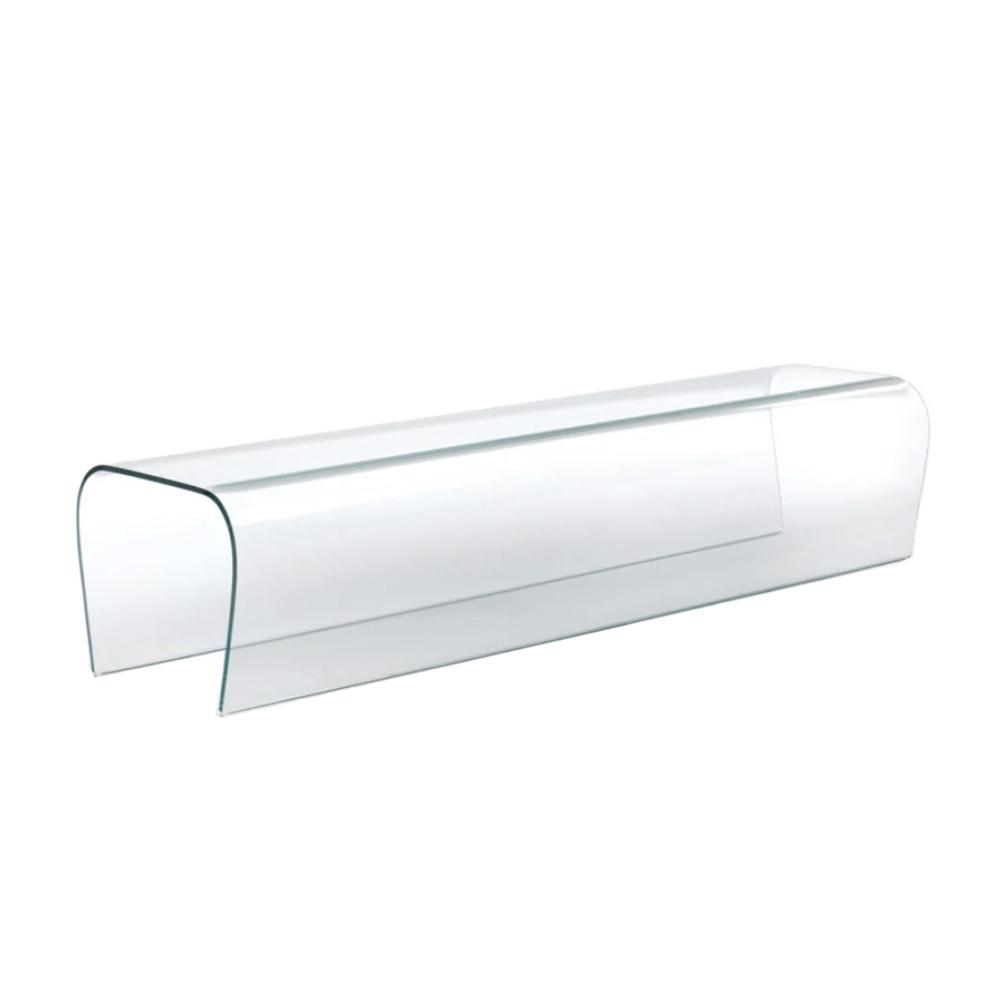 Bent Glass Bench designed by Naoto Fukasawa for Glas Italia