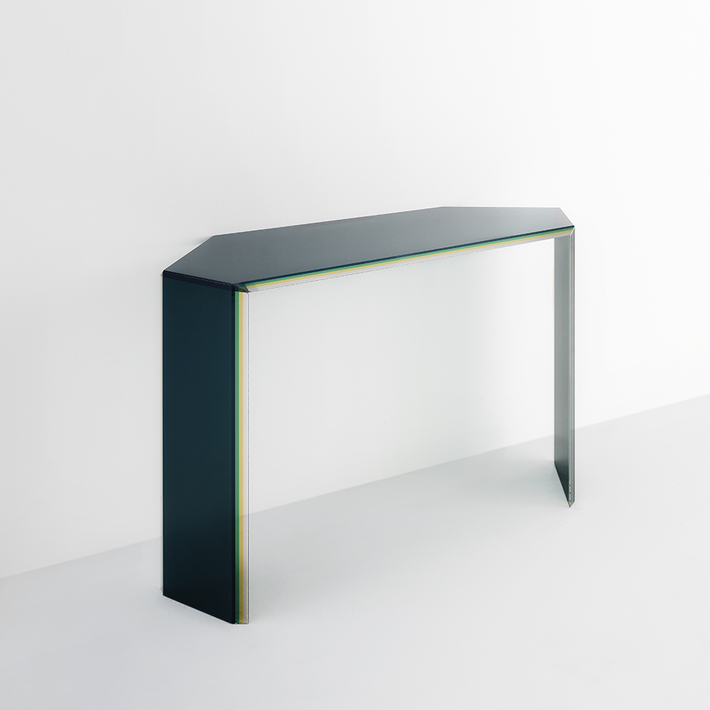 bisel patricia urqiola modern contemporary italian designer colored glass coffee dining console table