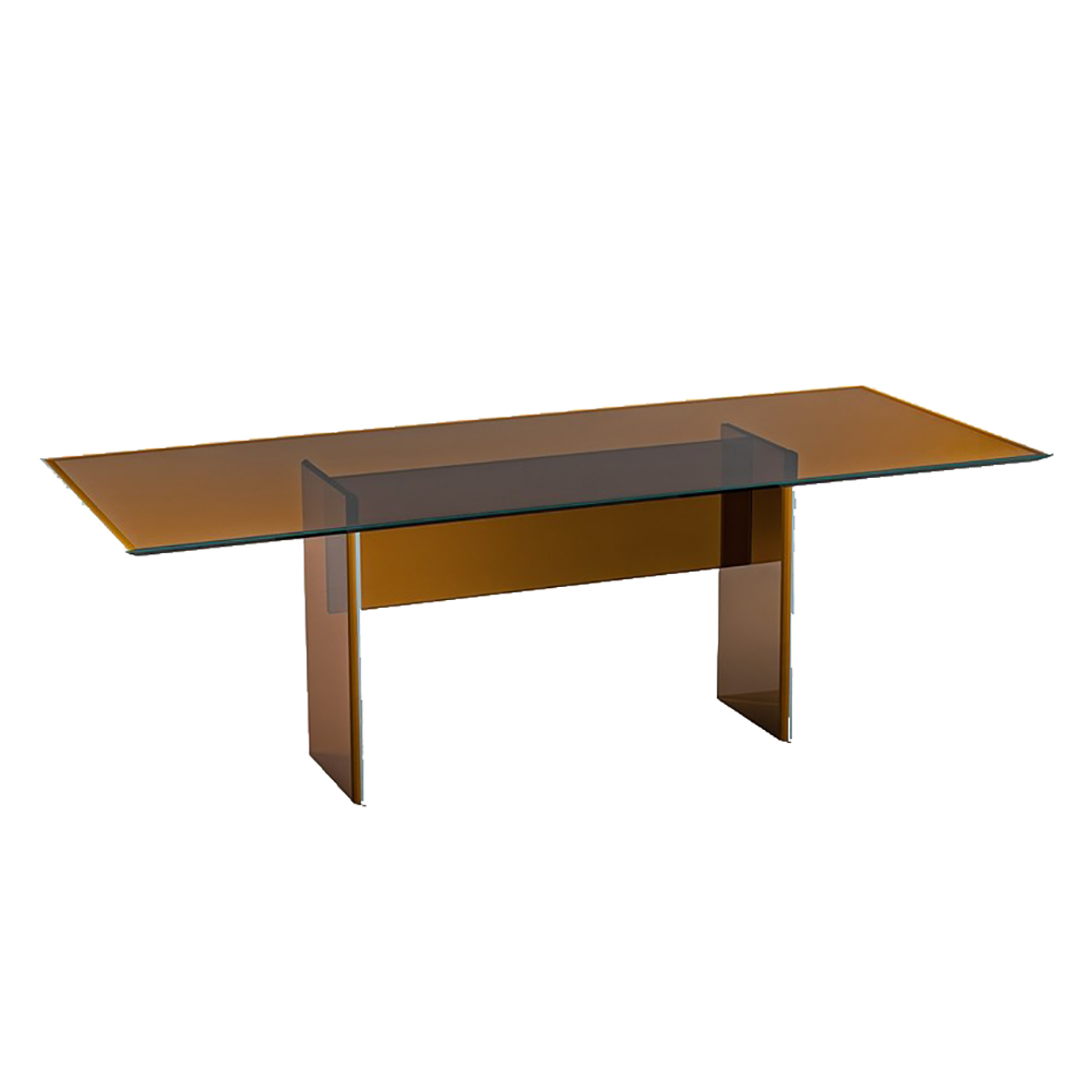 bisel dining table patricia urqiola modern contemporary italian designer colored glass coffee dining table