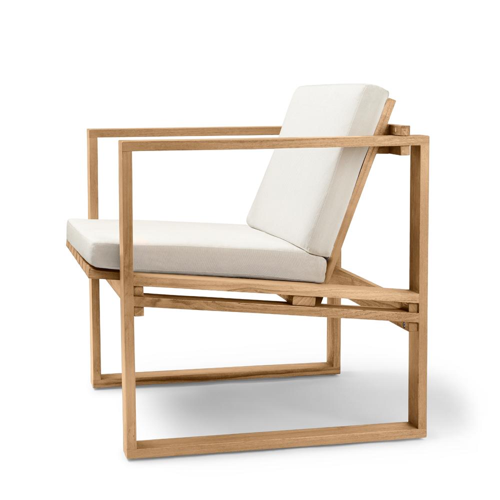 bk11 bodil kjaer carl hansen contemporary modern danish designer outdoor teak wood lounge chair