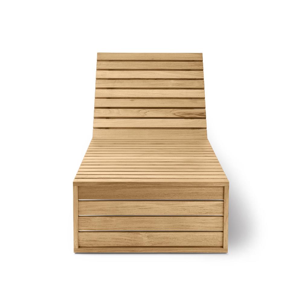 bk14 bodil kjaer carl hansen wooden mid-century modern danish designer indoor outdoor daybed sunbed lounge furniture