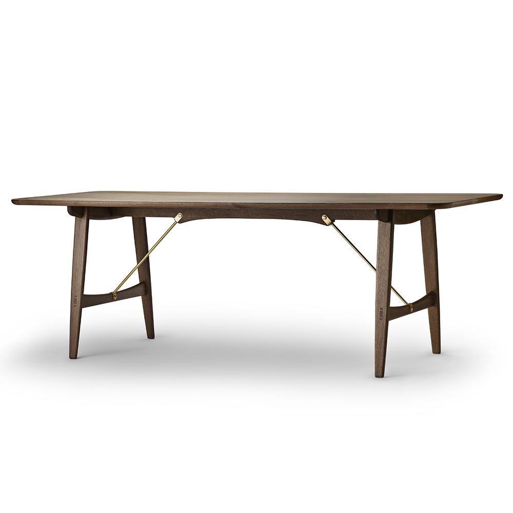bm1160 hunting table borge mogensen carl hansen midcentury modern designer wooden solid wood dining table
