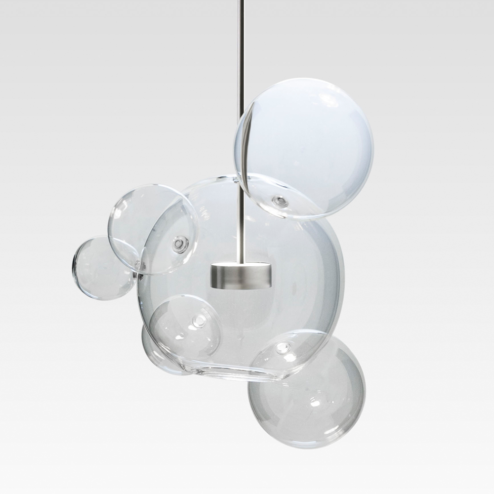 bolle pendant suspension light glass giopato and coombes suite ny