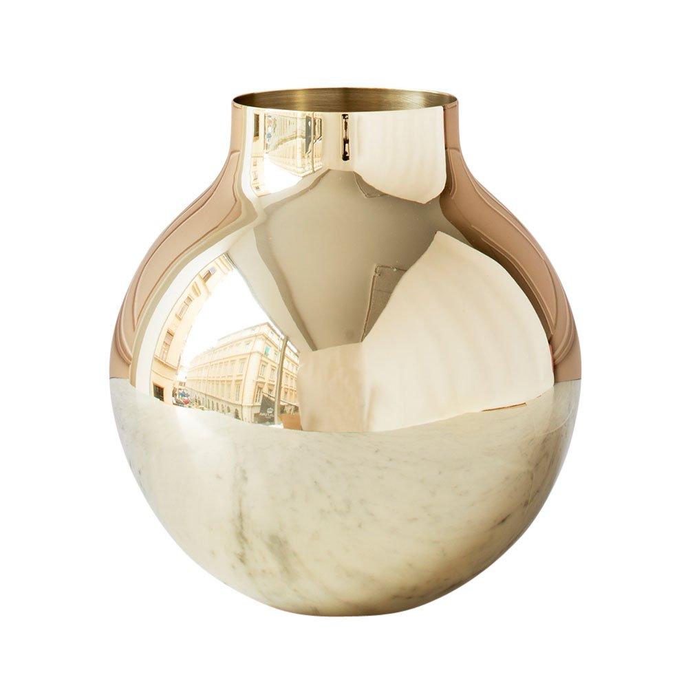 boule vase large olivia herms skultuna suite ny brass