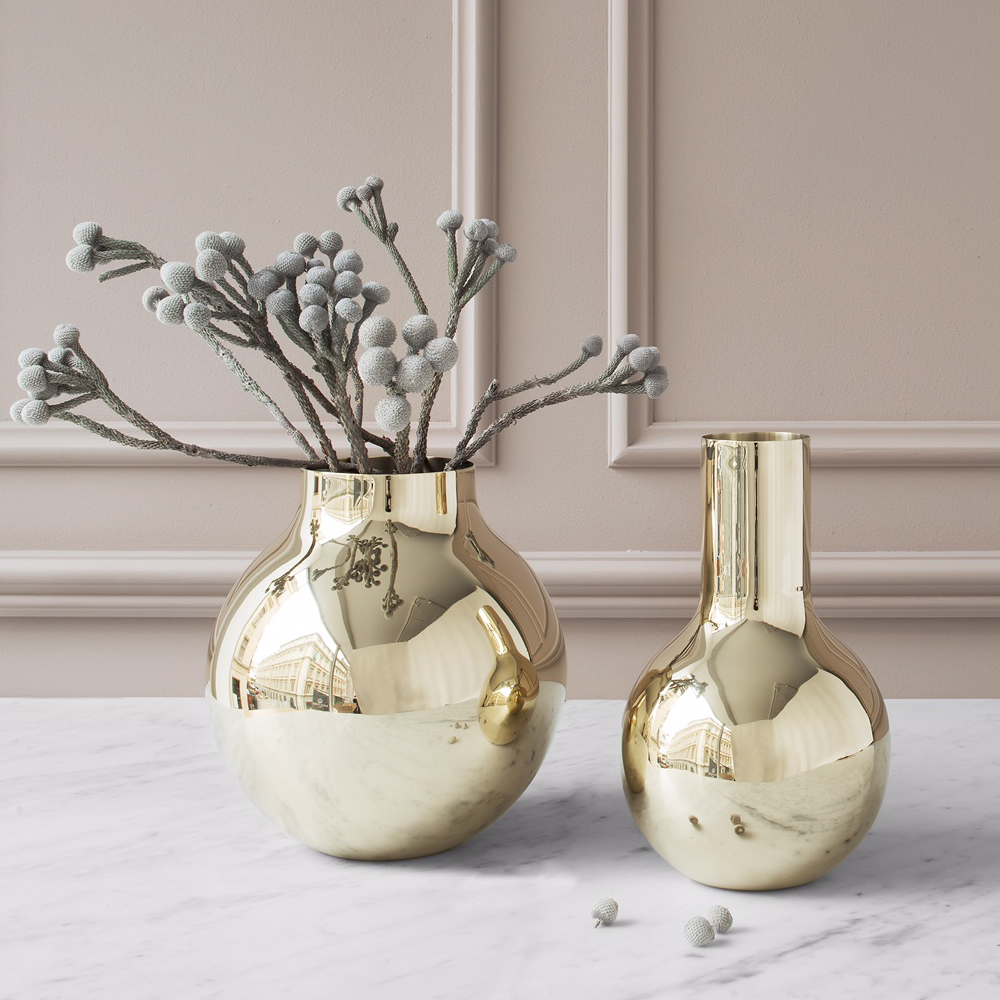 boule vase small large olivia herms skultuna suite ny brass