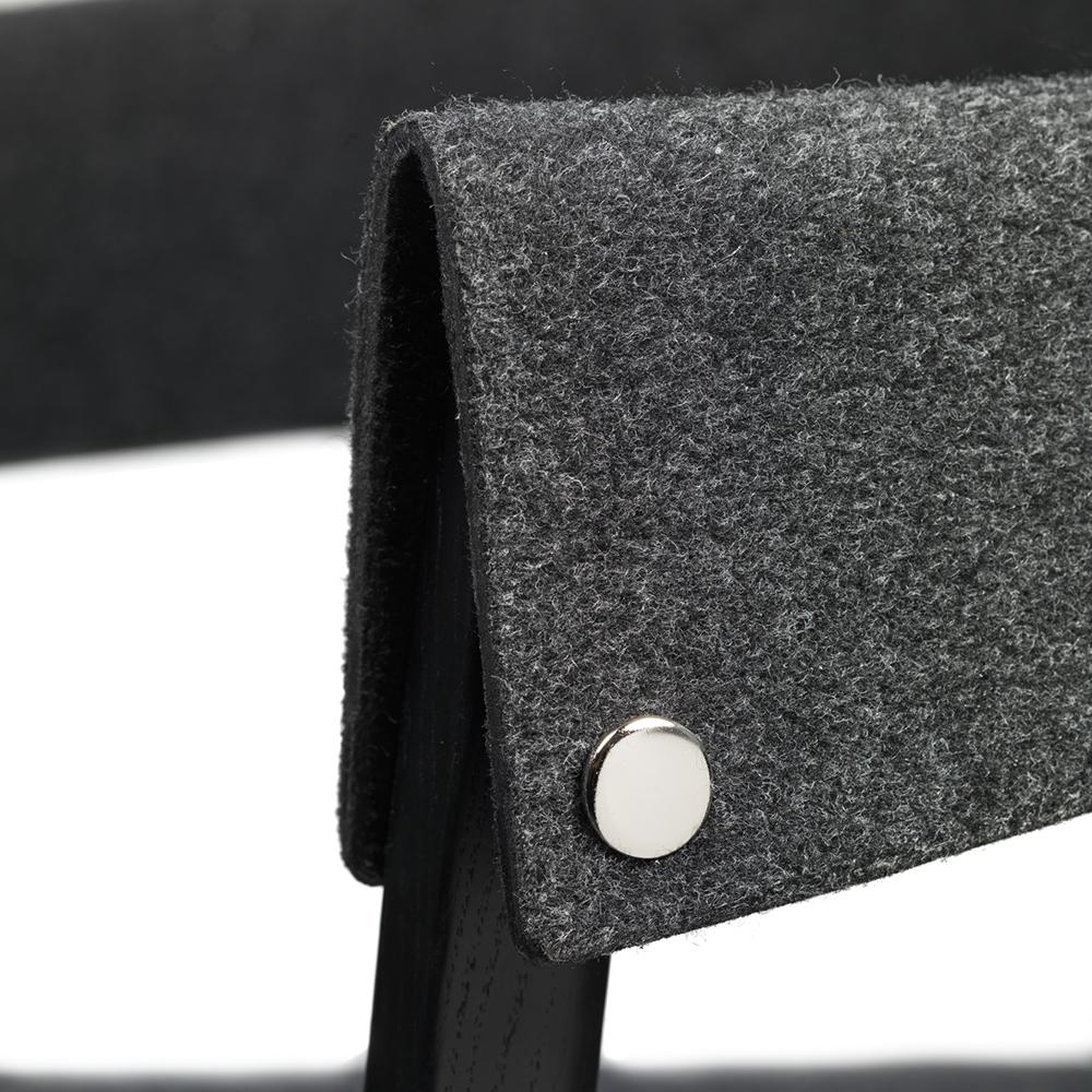 button i pierre sindre garsnas modern designer contemporary danish felt upholstered wood wooden dining chair