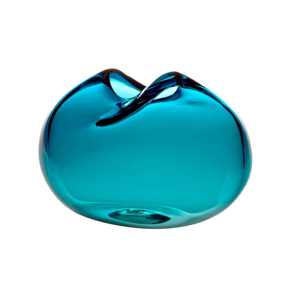 Caillou Vase Kate Hume Skultuna when objects work colored glass turquoise blue