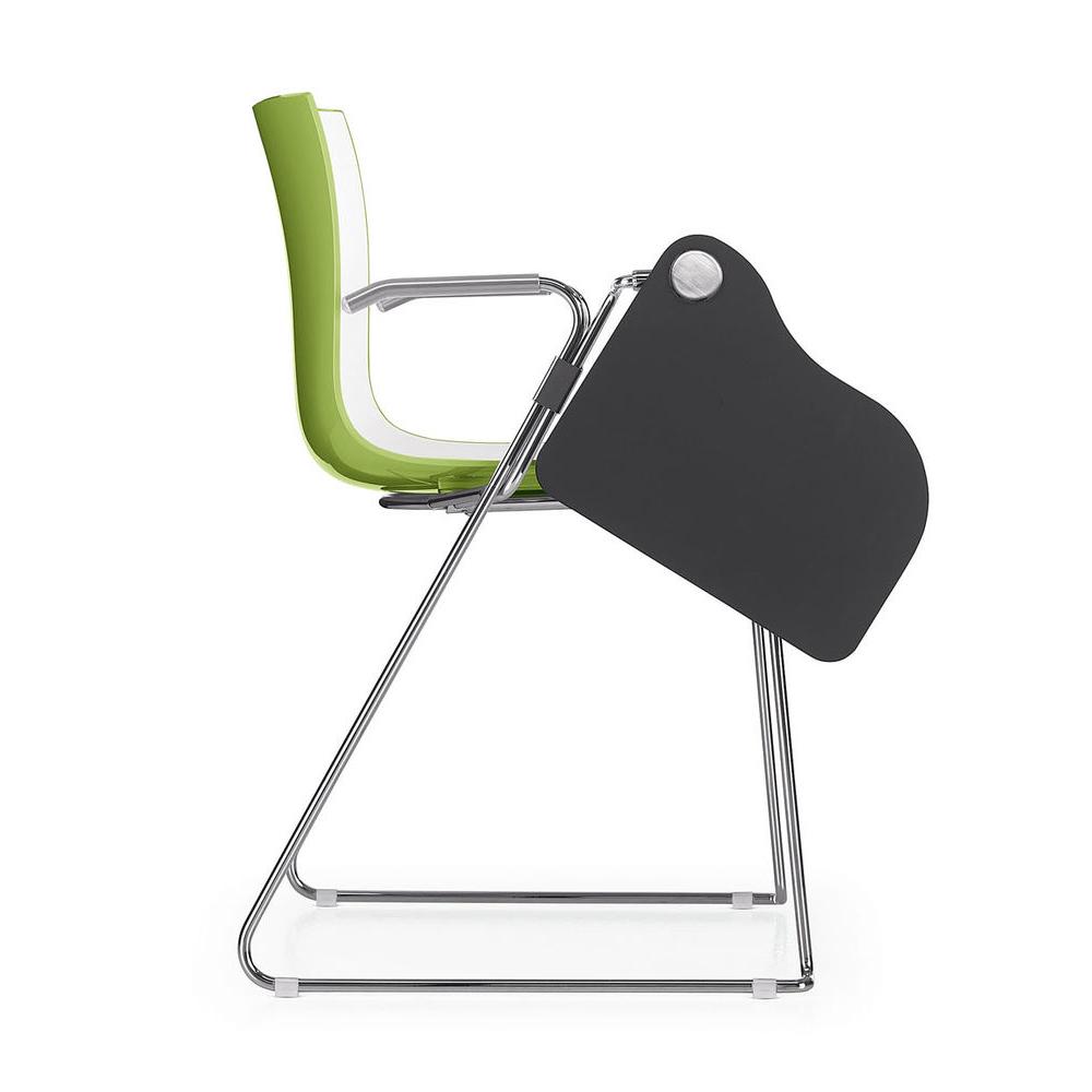 CAtifa 46 Sled Chair Arper green writing tablet