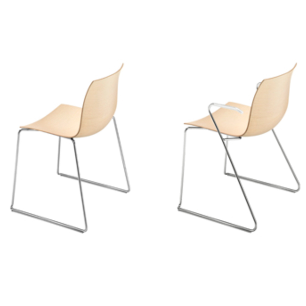 CAtifa 46 Sled Chair Arper arms no arms