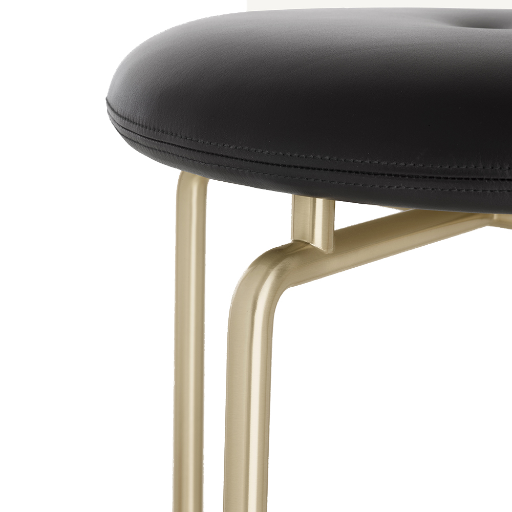 bassamfellows cb-260 cb-263 circular stools american modern designer leather upholstered bar dining stool