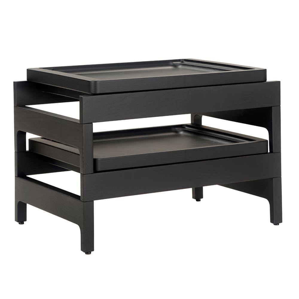 cb 33 tray rackk side table cb 12 stacking ebonized ash