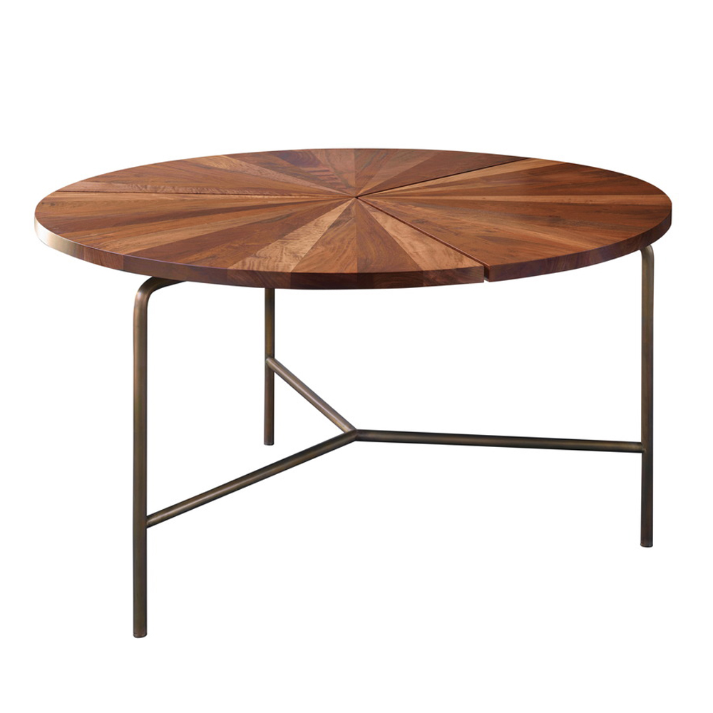 CB-35 BassamFellows Circular Dining Table modern walnut
