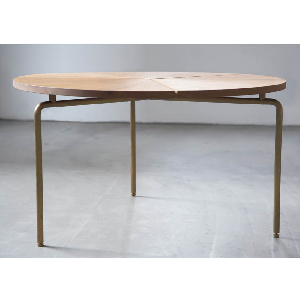CB-36 Coffee Table BassamFellows SUITE NY modern walnut brass wood american