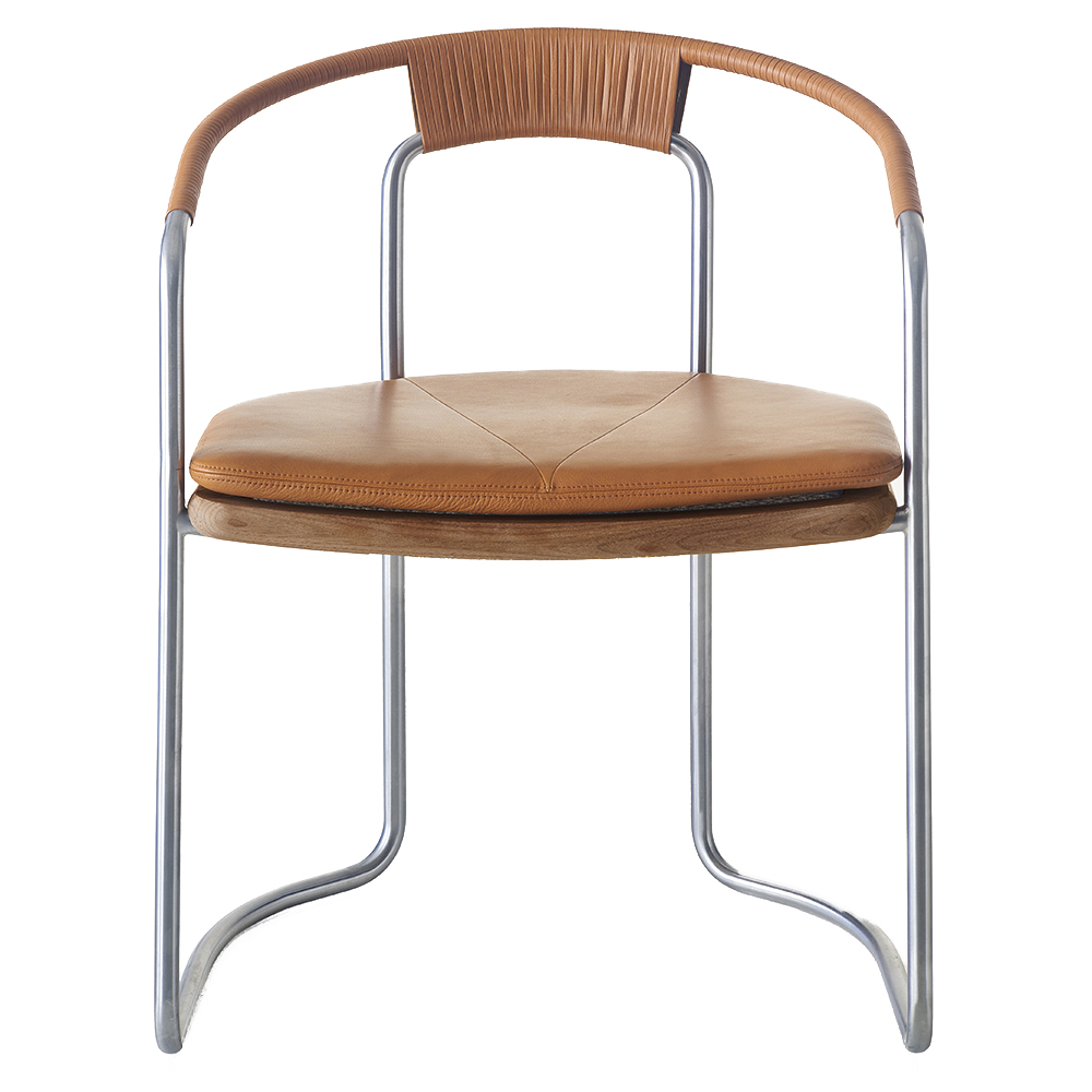 BassamFellows CB-450 Geometric Side Chair mid-century style contemporary american designer dining side chair