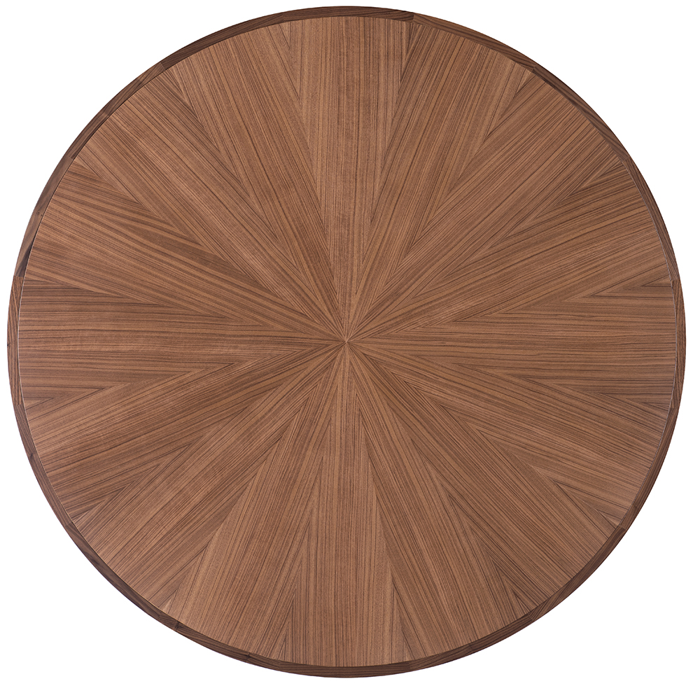 CB-464 GEOMETRIC DINING TABLE bassamfellows craig bassam scott fellows american mid-century contemporary designer wood circular wooden round dining table