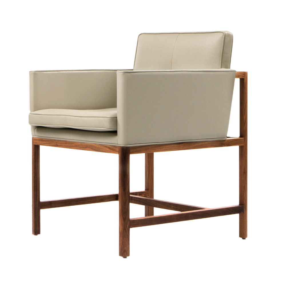 Cb-54 541 wood frame dining armchair craig bassam scott fellows bassamfellows suite ny