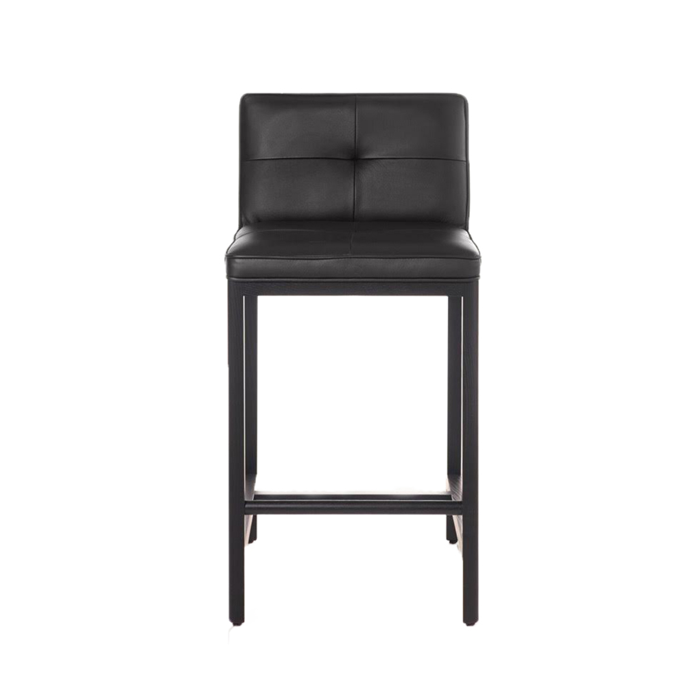 cb-542 all black front designer upholstered counter stool bassamfellows USA