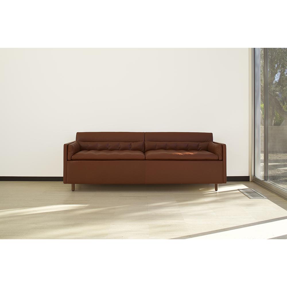 CB-56 Salon Sofa BassamFellows Craig Bassam Scott Fellows modern upholstered couch brown leather