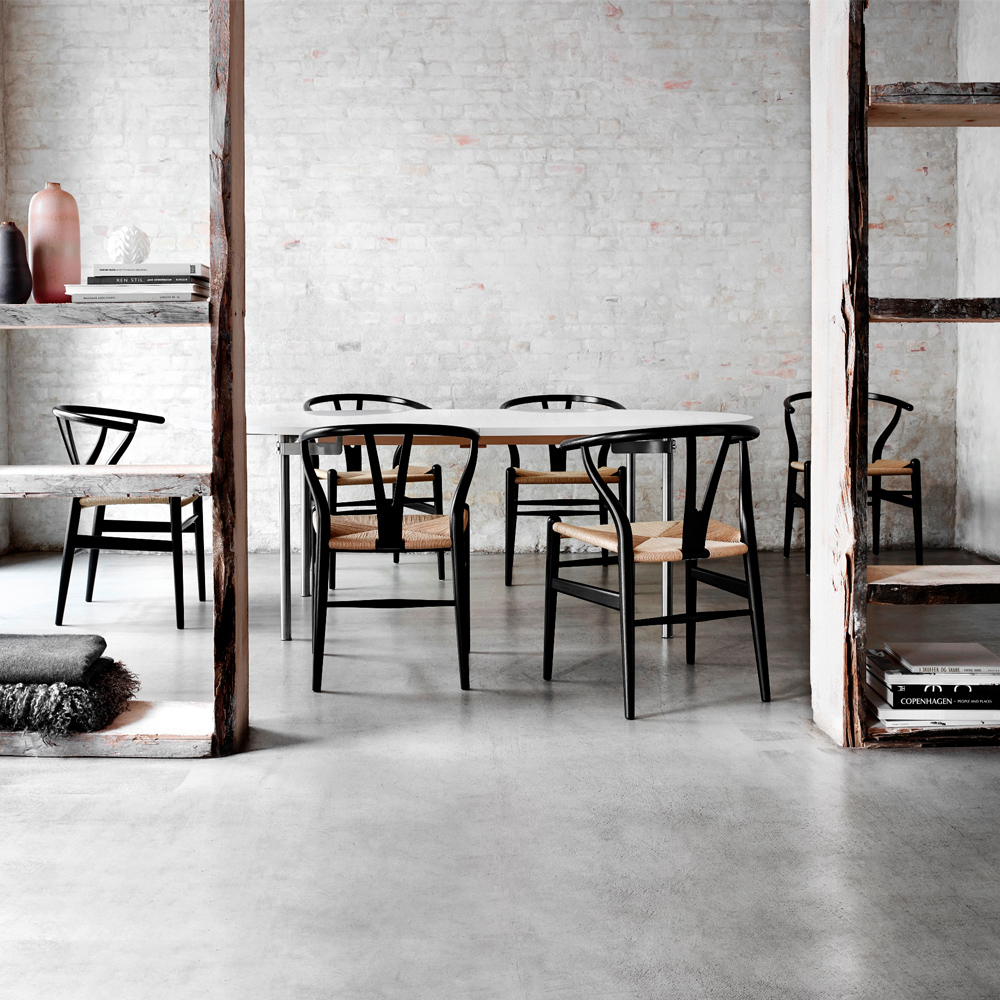 CH24 Wishbone Chair Hans Wegner Carl Hansen CHS Color lacquer black