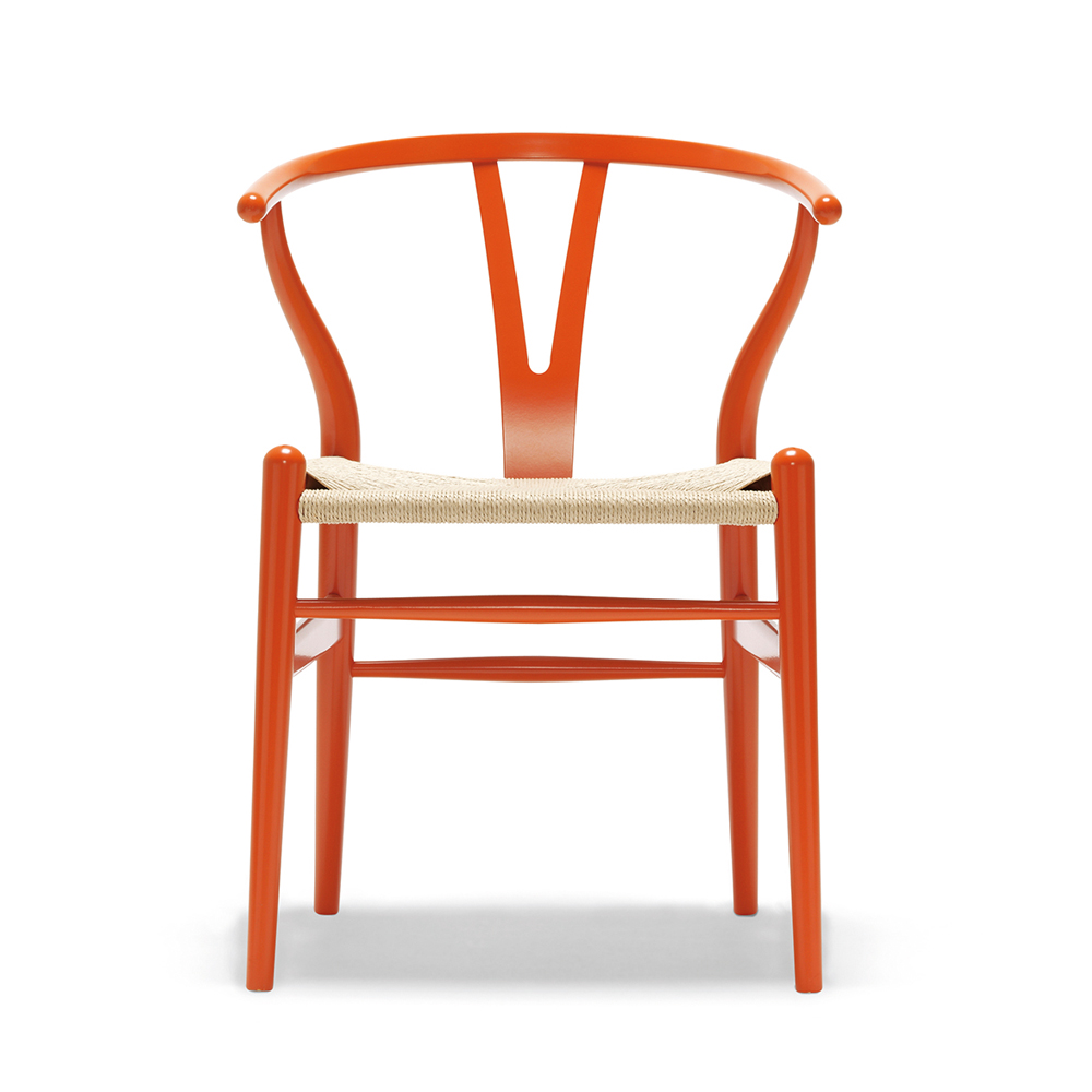 CH24 Wishbone Chair Hans Wegner Carl Hansen CHS Color lacquer orange