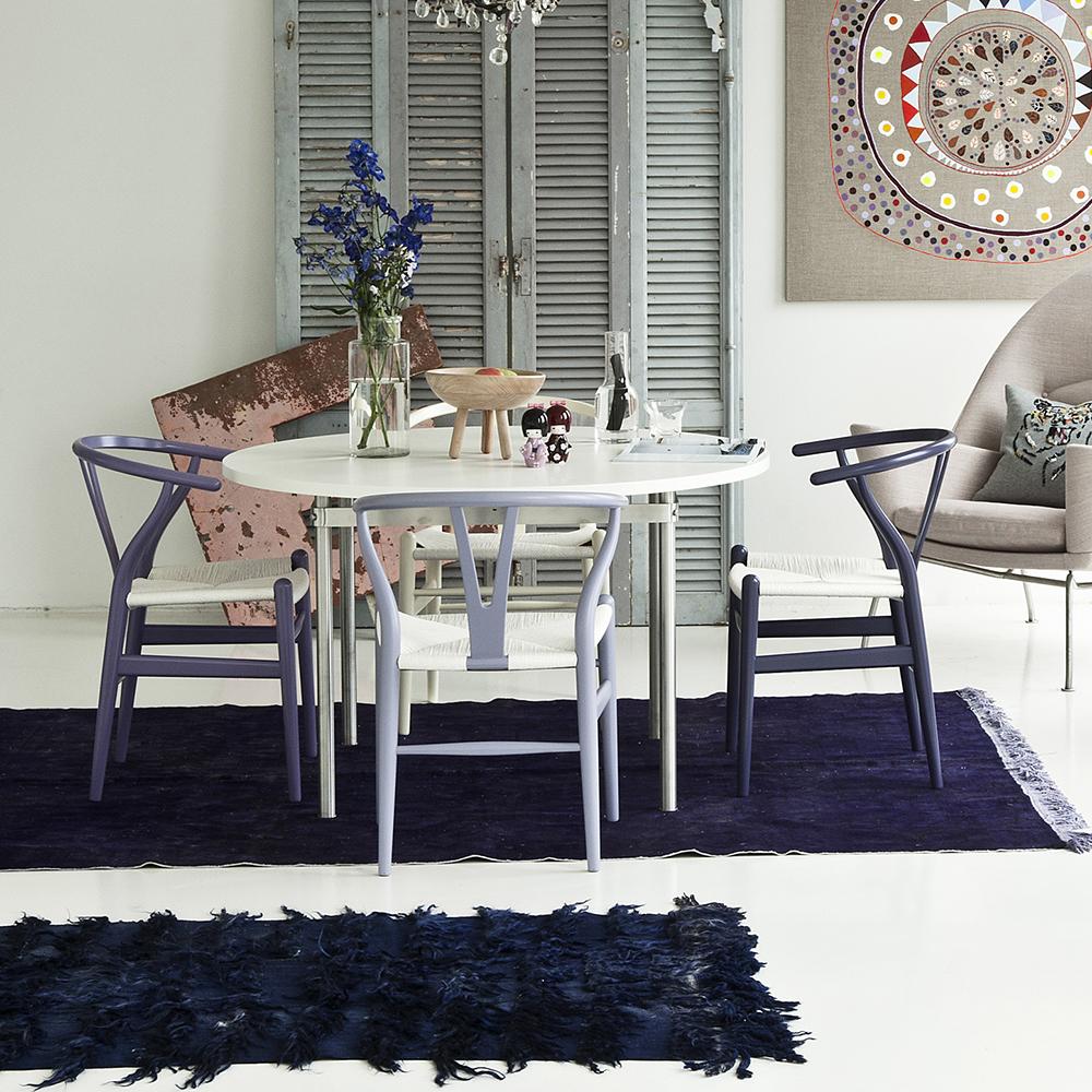 CH24 Wishbone chair beech CHS color lacquer hans wagner carl hansen purple lavender