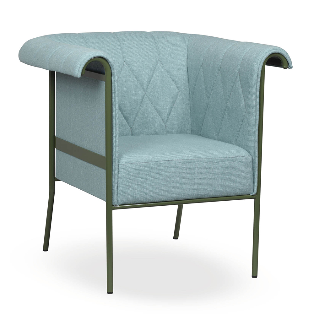 chester armchair easy chair pierre sindre thomas sandell kallemo contemporary modern designer upholstered quilted colorful armchair