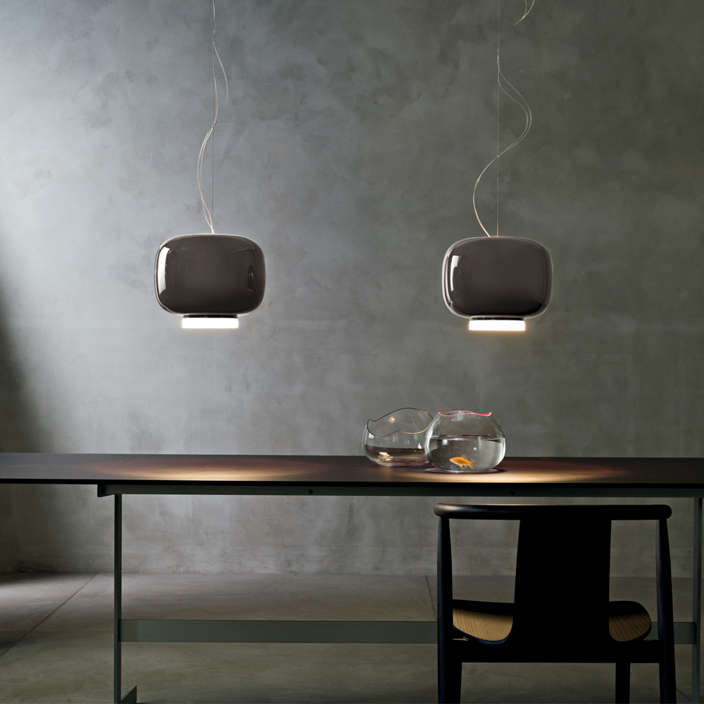 CHOUCHIN SUSPENSION LAMP IONNA VAUTRIN FOSCARINI LIFESTYLE GREY
