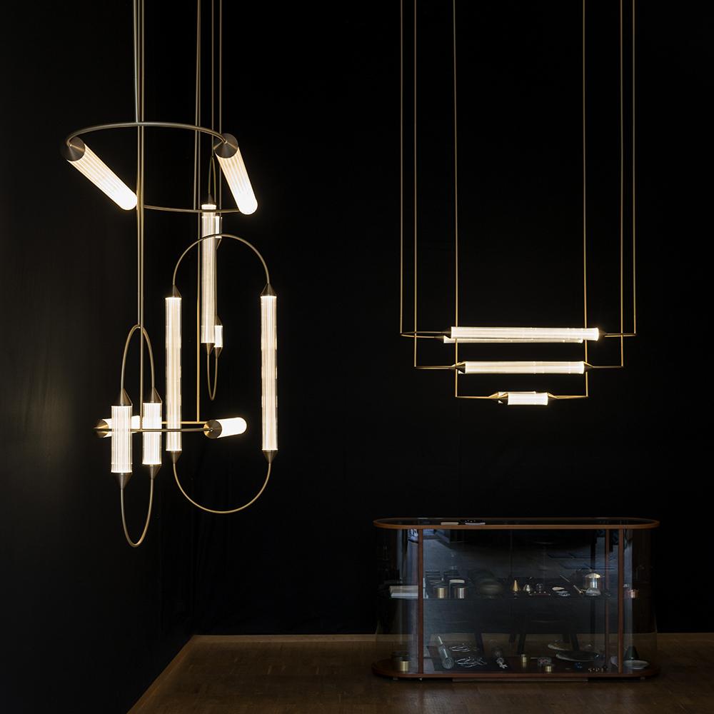 cirque giopato coombes contemporary italian brass suspension light