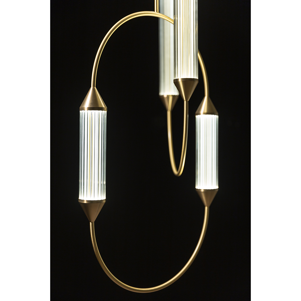 Cirque Giopato Coombes Modern Gold Suspension Lamp