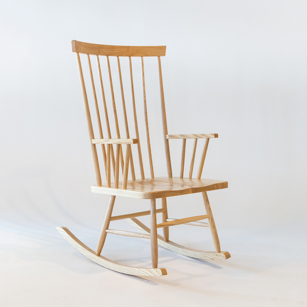 classic rocking chair mel smilow solid ash natural lacquer american enduring modern classics design shop suite ny