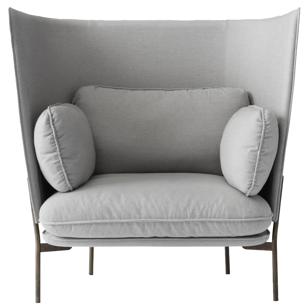 cloud high back sofa luca nichetto andtradition danish designer high back couch one seater