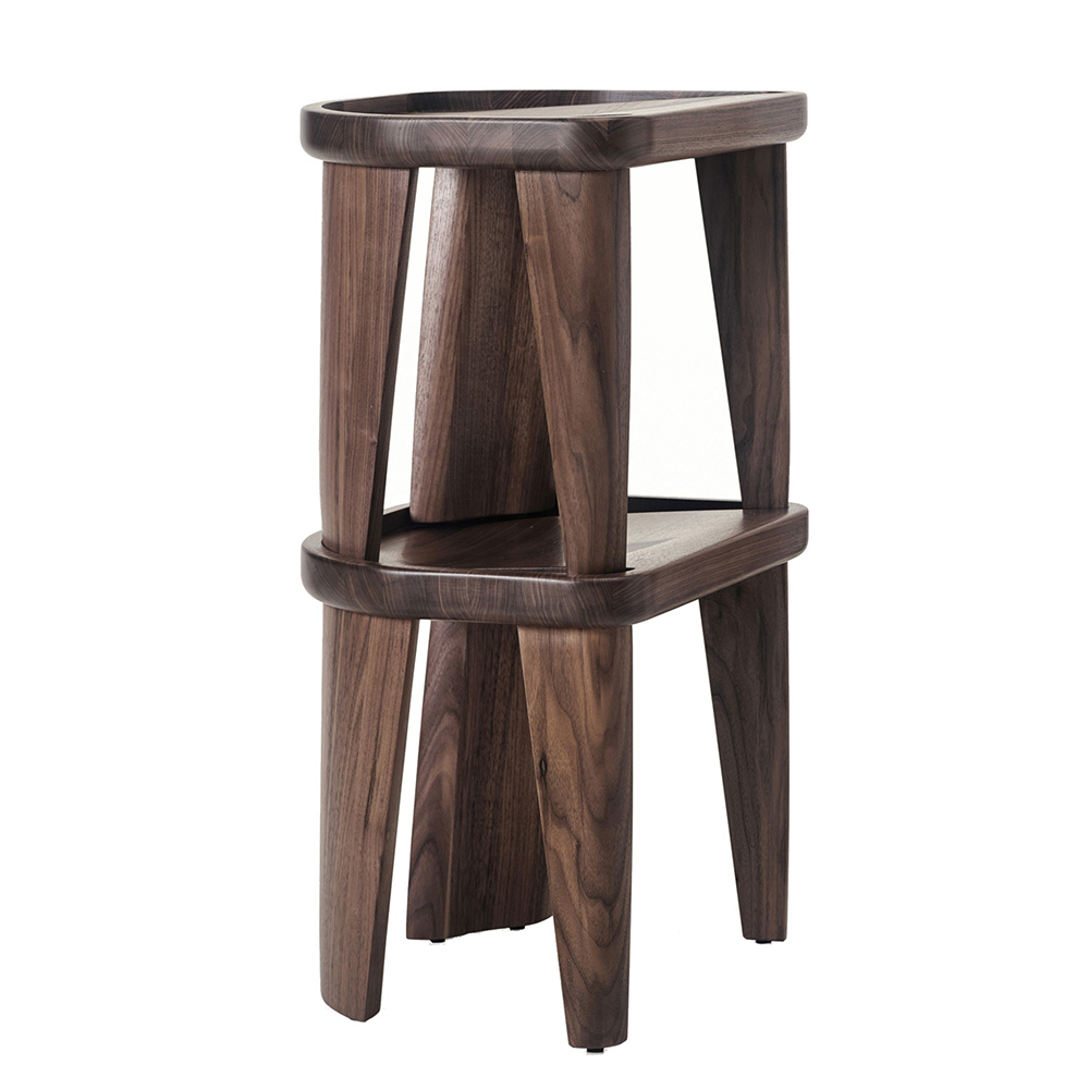 cluster stool Craig Bassam bassamfellows designer contemporary modern solid wood wooden stool stacking stackable