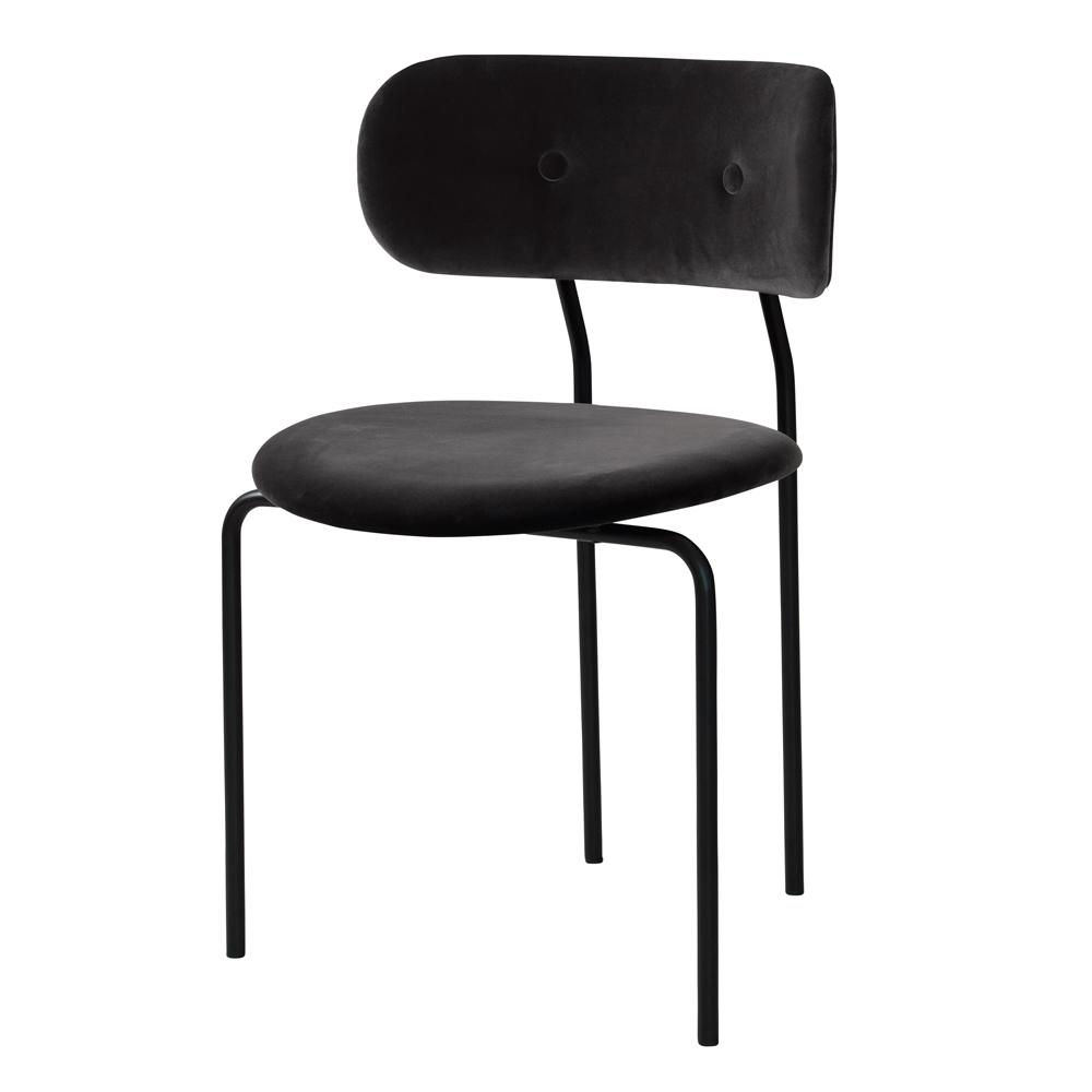 coco chair upholstered black velvet oeo studio gubi suite ny
