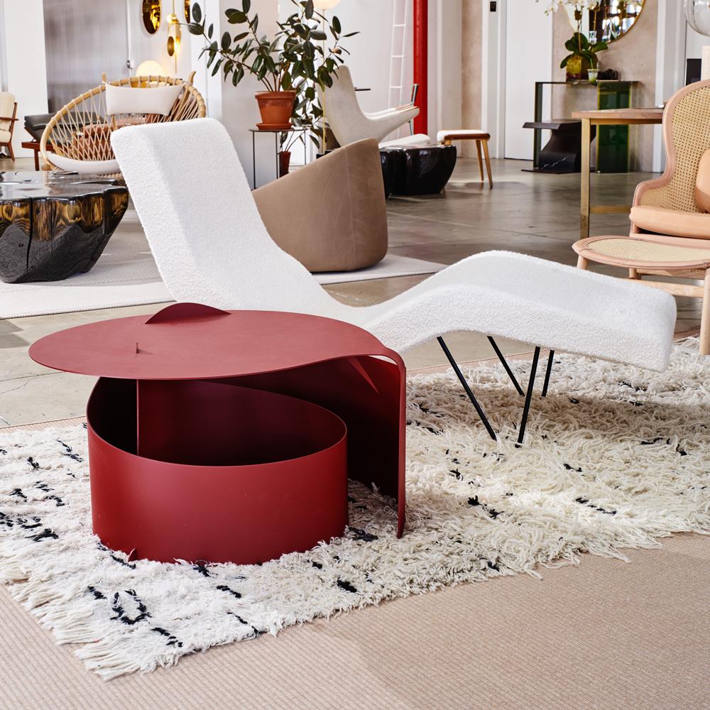 coffee table aldo bakker karakter contemporary geometric metal occassional table