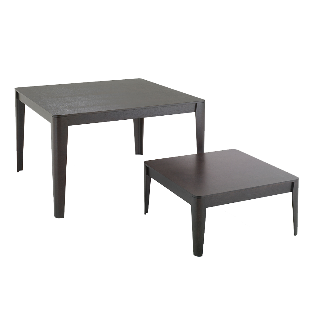 Compensato Table designed by Angelo Mangiarotti, manufactured by AgapeCasa.