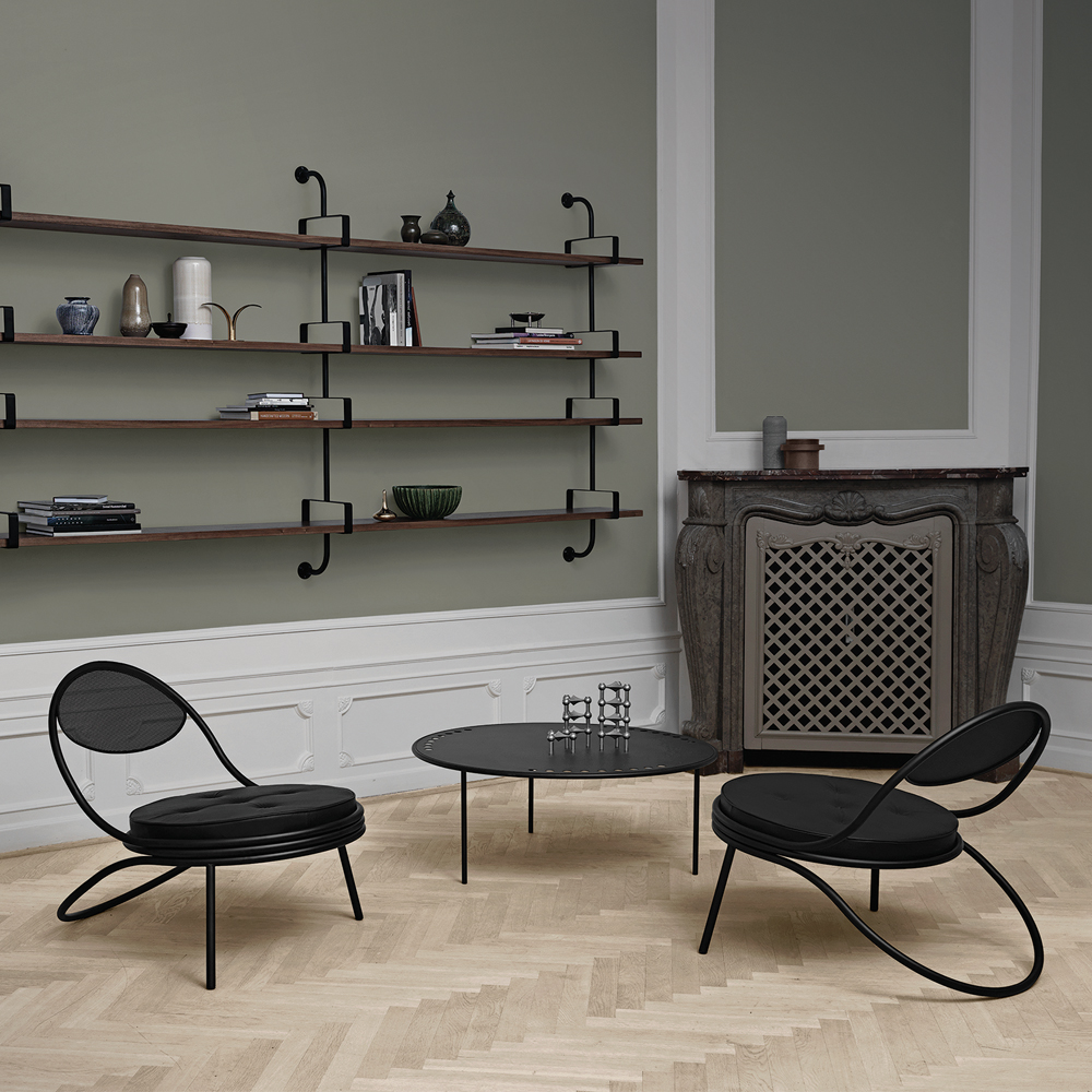 Copacabana Chair Mathieu Mategot GUBI midcentury metal lounge chair