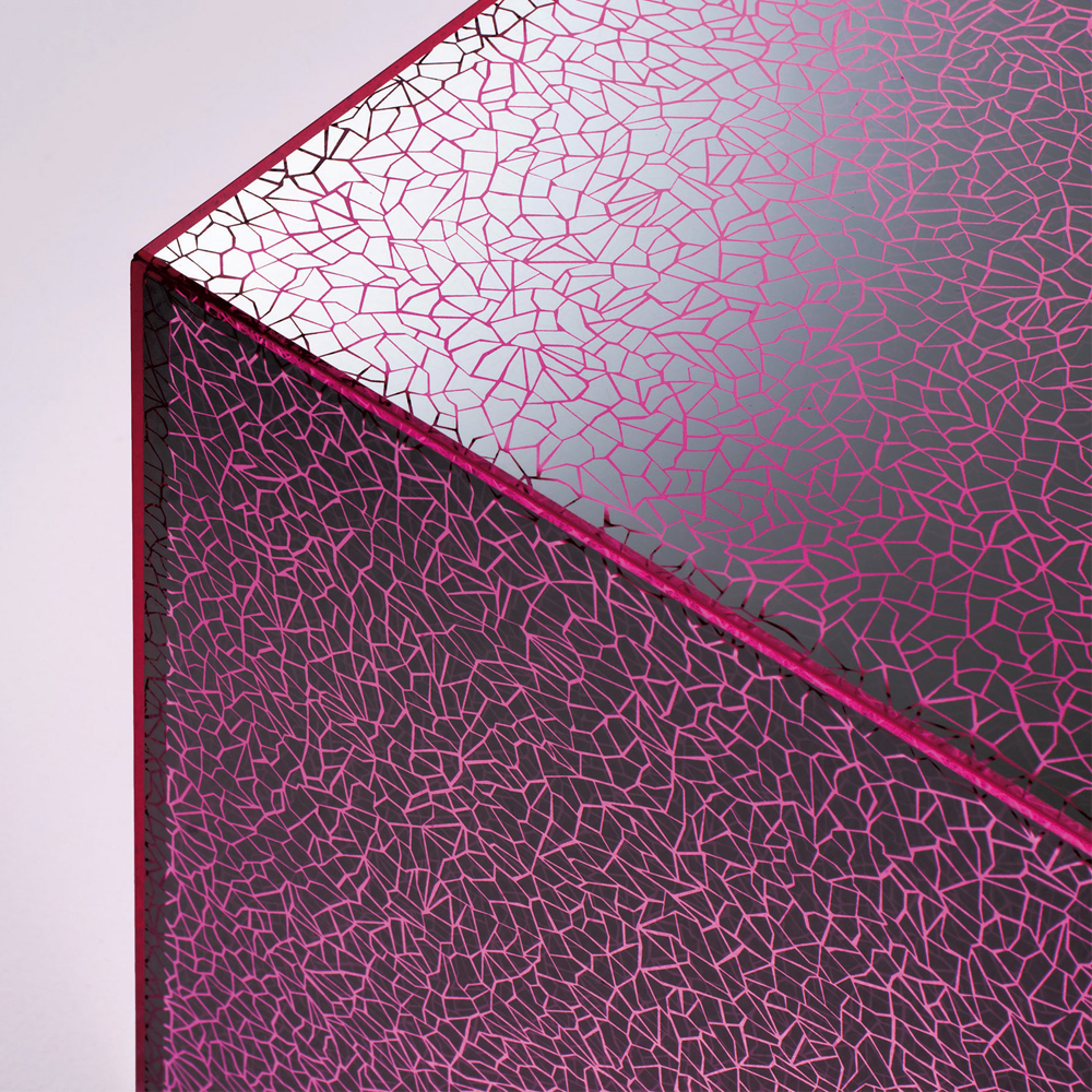 Crack table Johanna Grawunder glas Italia pink