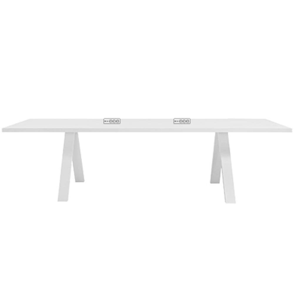 Cross table series by Fattorini Rizzini Partners for Arper