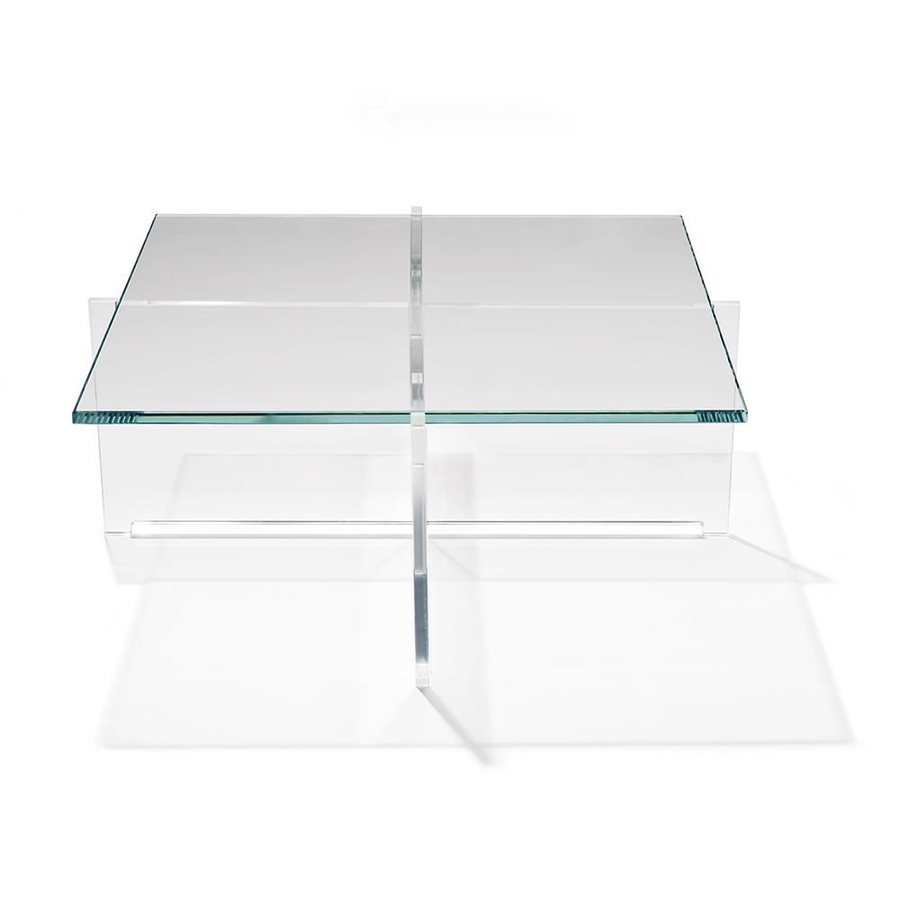 cross plexi bodil kjaer karakter modern contemporary mid-century danish designer solid glass coffee table